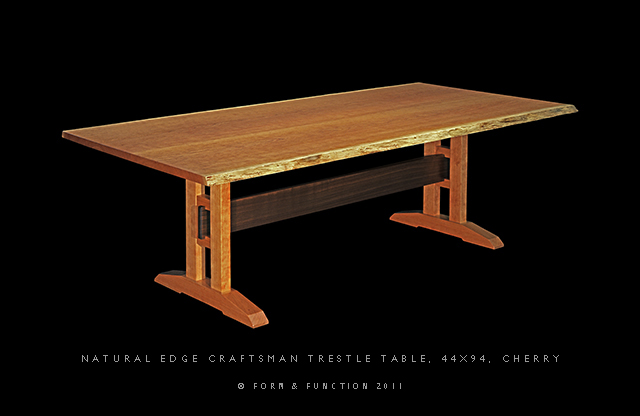 free woodworking plans for trestle tables Online  : nat edge trestle table e1 from www.dschang-online.com size 640 x 416 jpeg 85kB