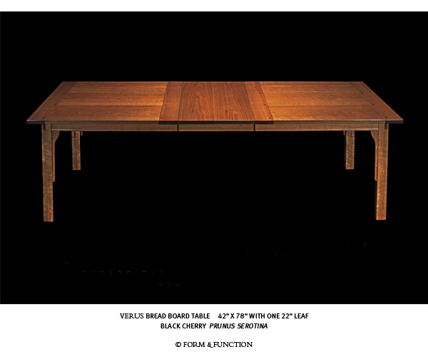 VERUS breadboard table designed and built by Form & Function